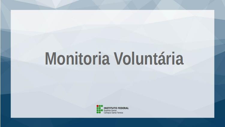 Edital 012-2019 – Cadastramento de monitoria voluntária